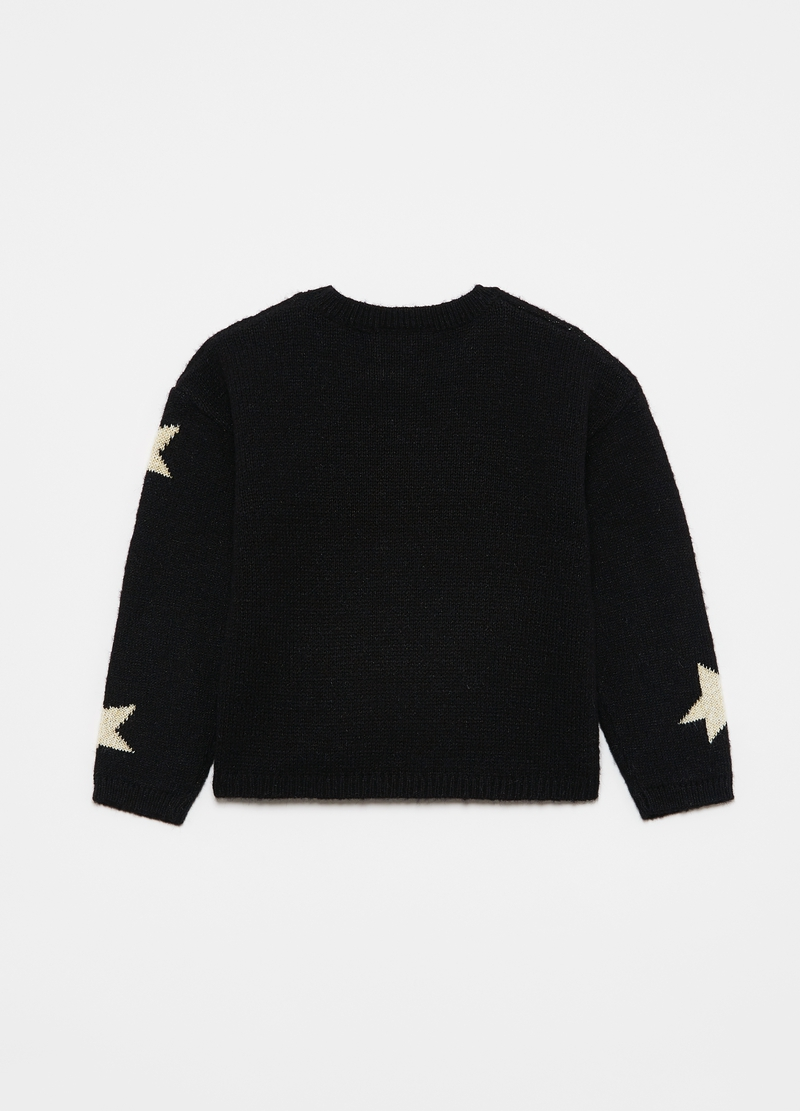 Pullover girocollo stelle jacquard image number null