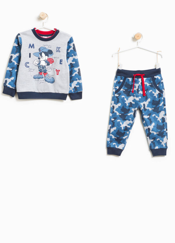 Camouflage tracksuit with Mickey Mouse print | OVS