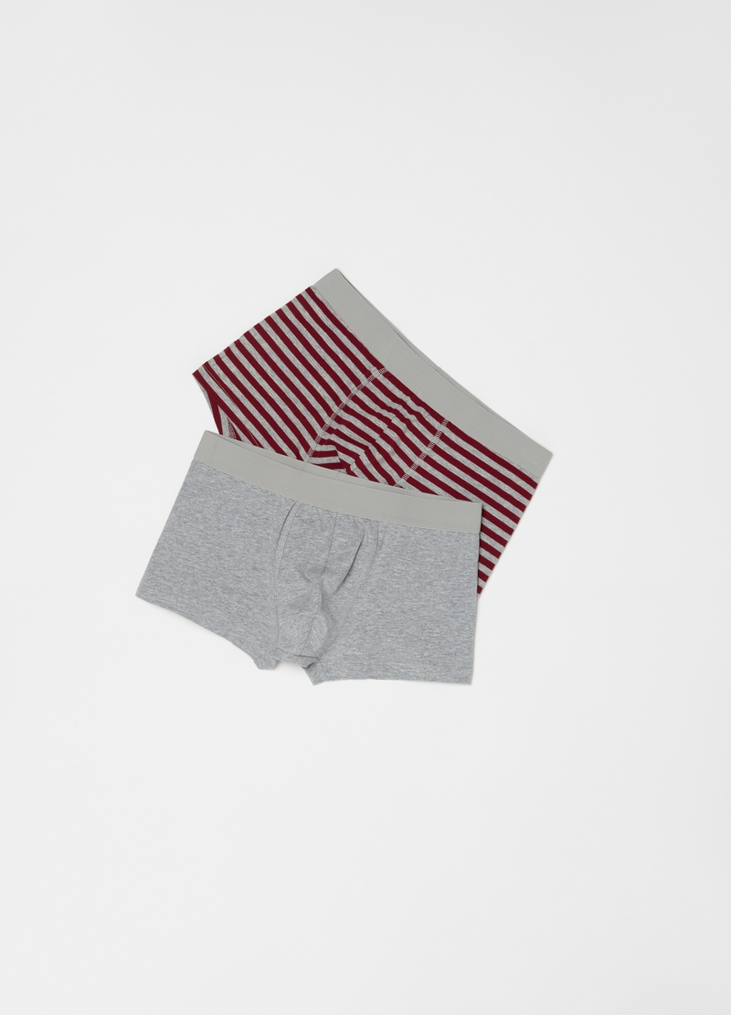 Two-pack stretch organic cotton boxer shorts image number null