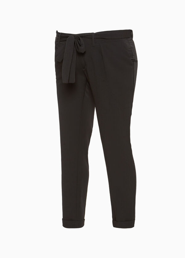 MUM trousers with knotted belt