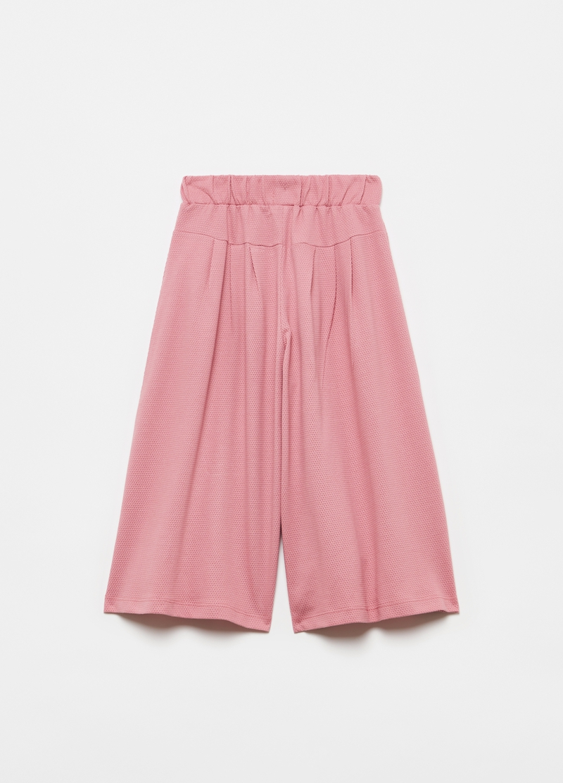 Pantaloni wide leg in puro cotone image number null