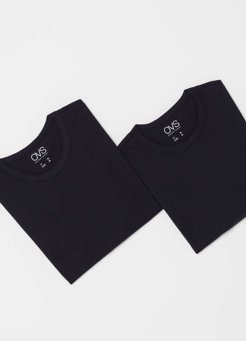 Two-pack undershirts with round neckline image number null