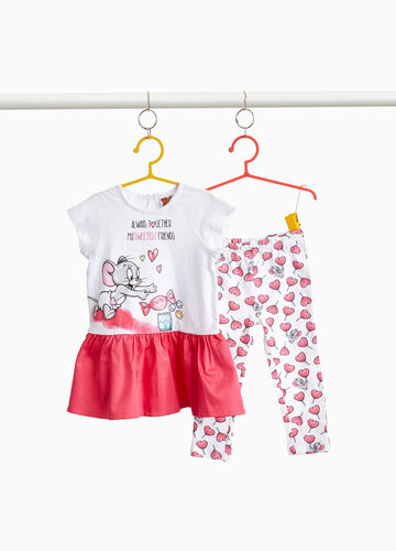 Stretch cotton outfit with Tom & Jerry print