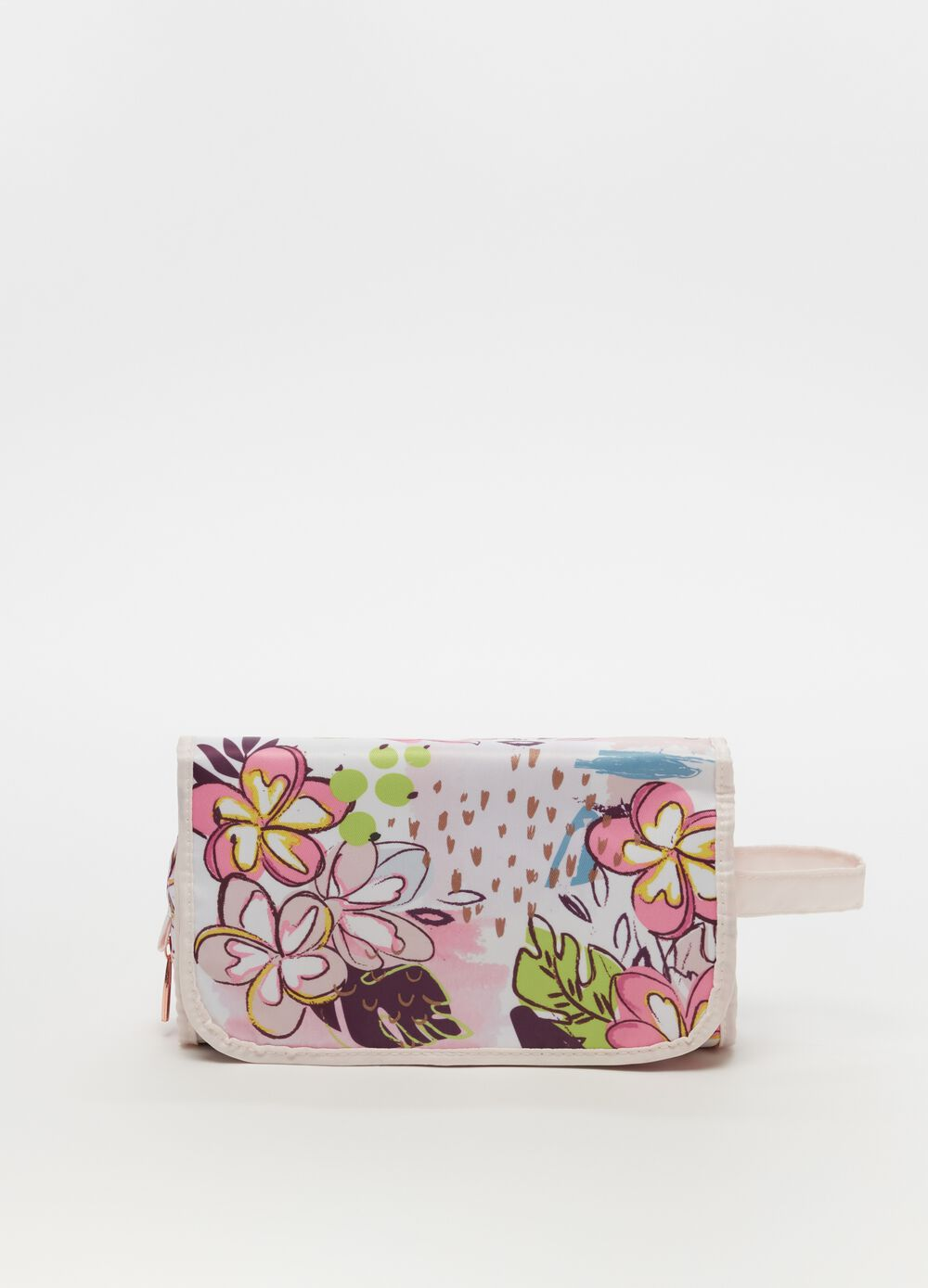 Rectangular beauty case with clip