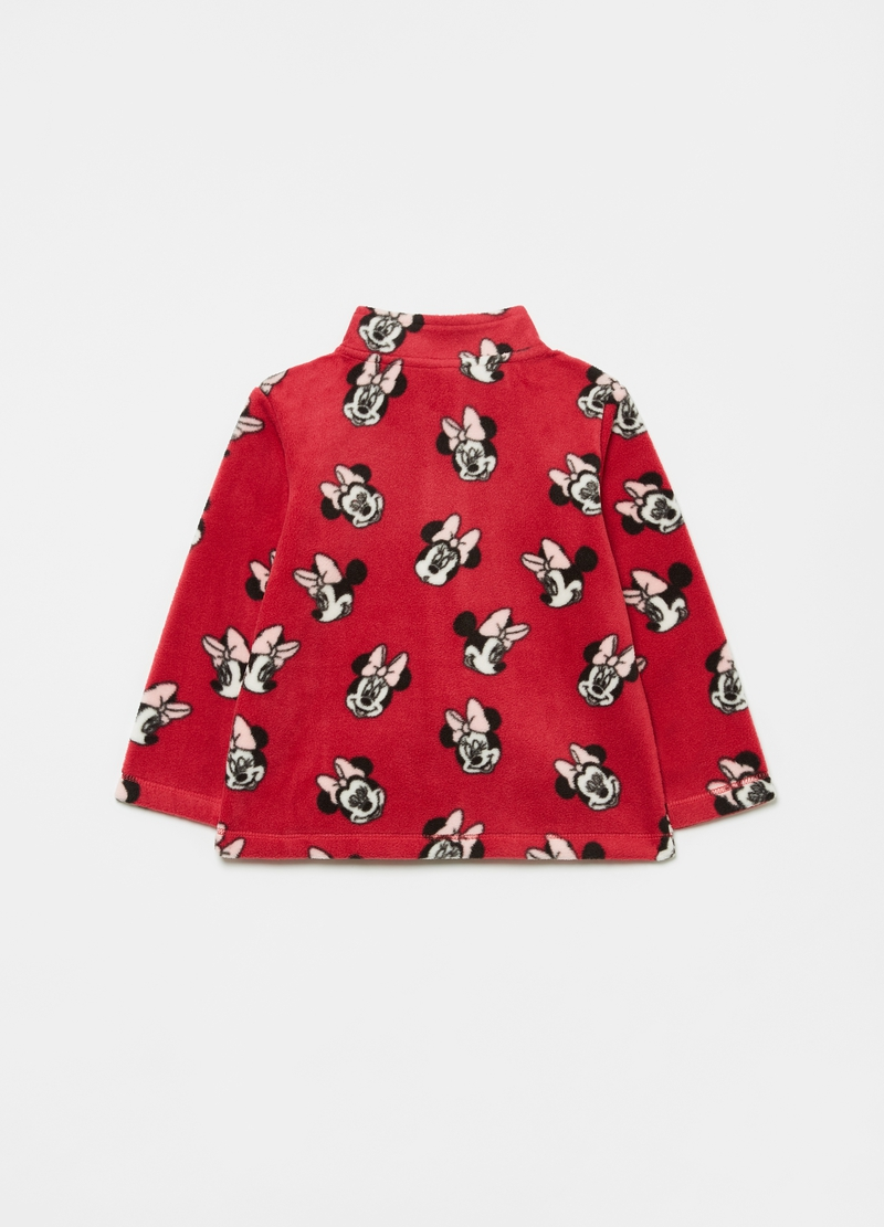 Full-zip in pile riciclato fantasia Minnie image number null