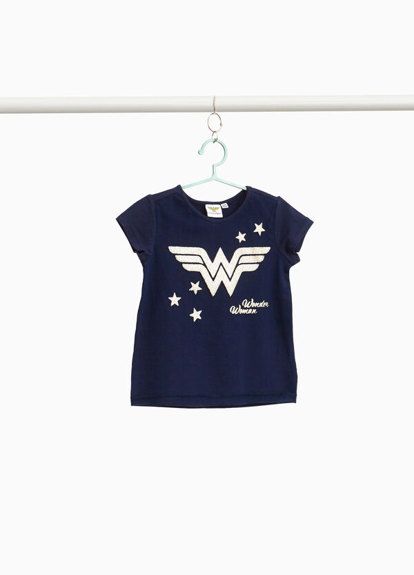 T-shirt con stampa Wonder Woman