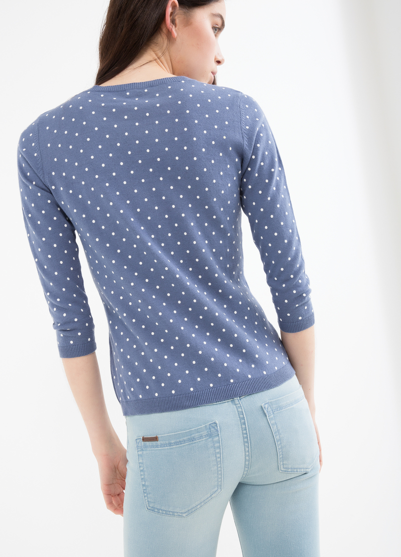 Polka dot cardigan in 100% cotton image number null