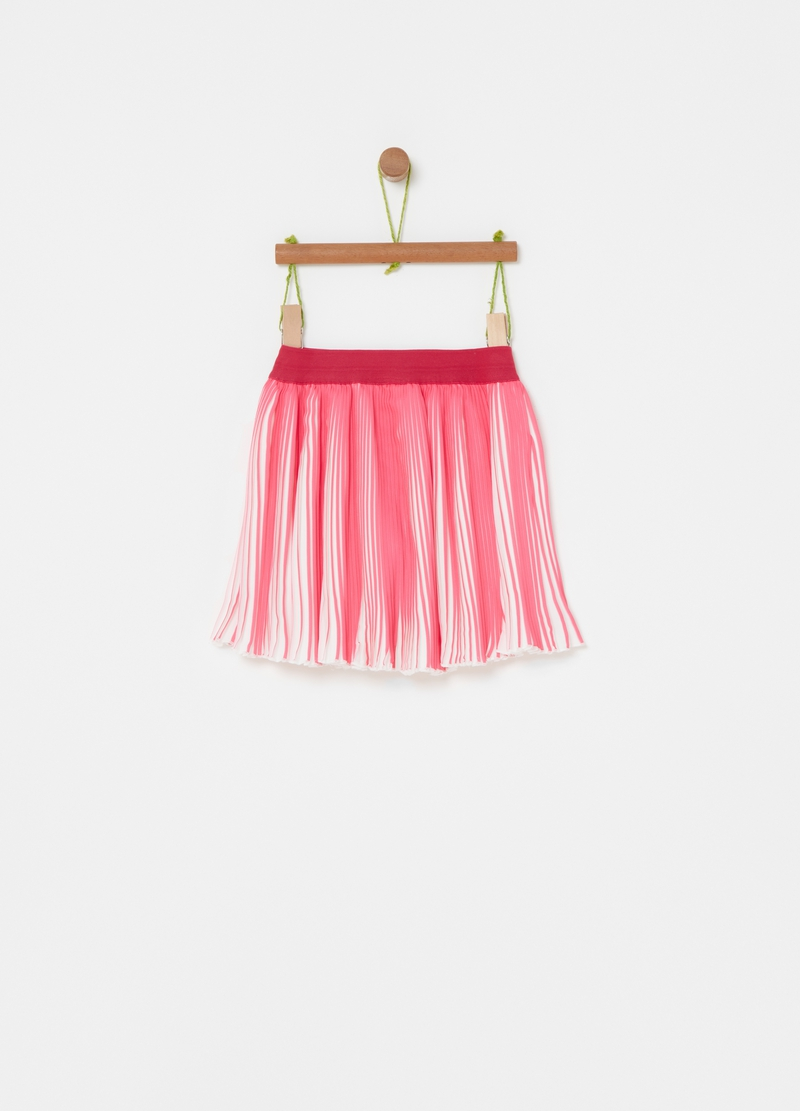 Two-tone pleated skirt image number null