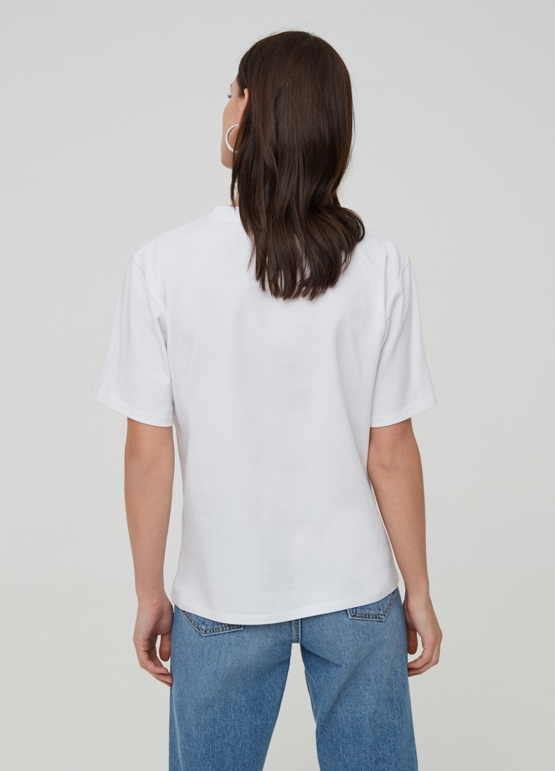 Printed T-shirt in 100% cotton image number null