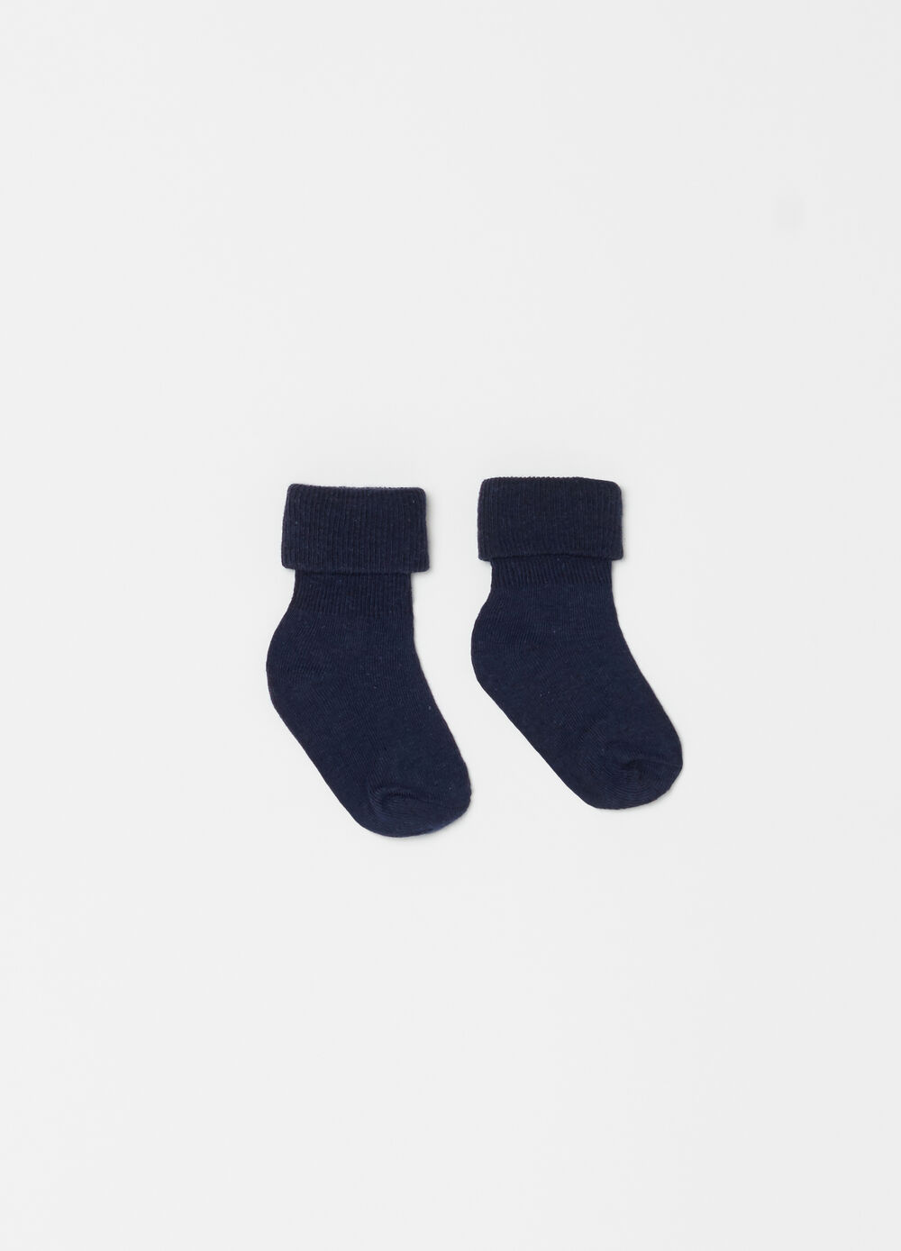 Short stretch organic cotton socks with fold