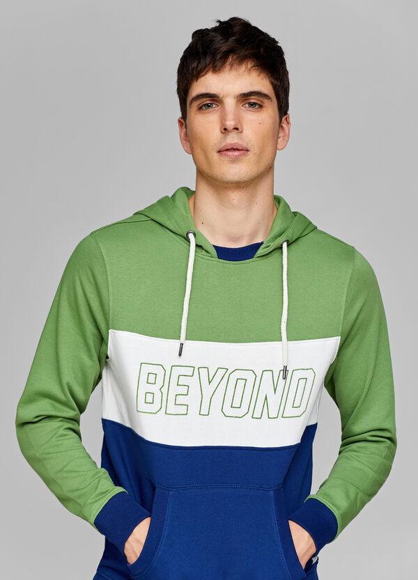 Striped sweatshirt with lettering print
