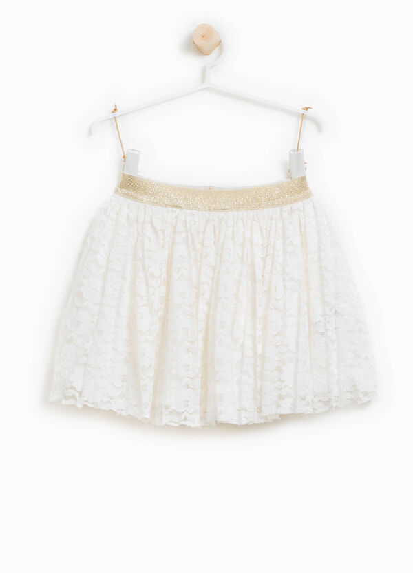 Lace skirt with glitter waistband | OVS