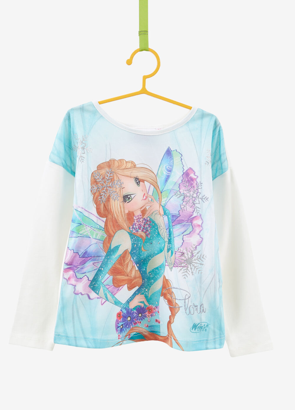 T-shirt stretch maxi stampa Winx