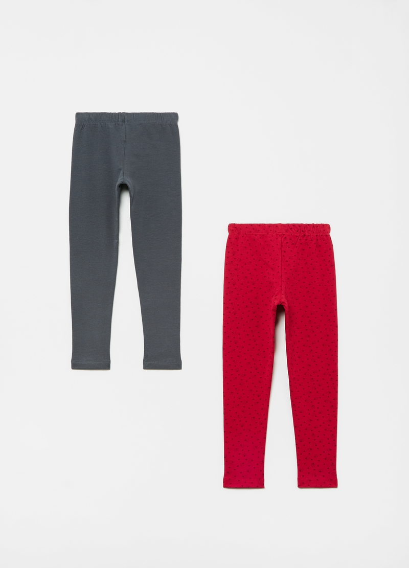 Bipack leggings in cotone stretch image number null