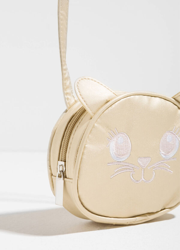 Shoulder bag with kitten embroidery | OVS