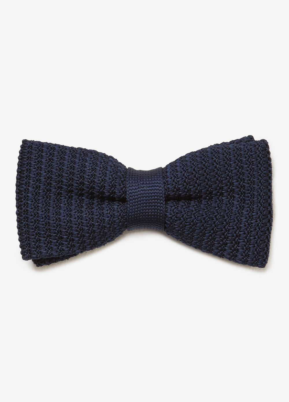 Solid colour knitted bow tie