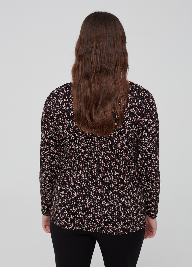 Curvy stretch viscose floral T-shirt image number null