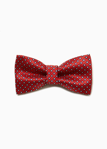Bow tie with striped weave pattern
