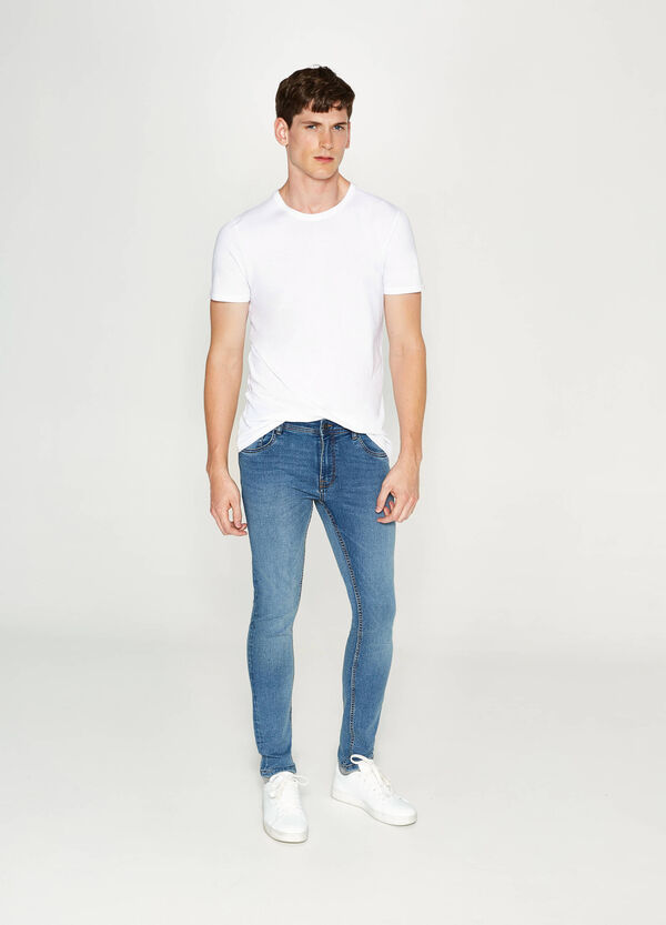 Super-skinny-fit faded-effect stretch jeans | OVS
