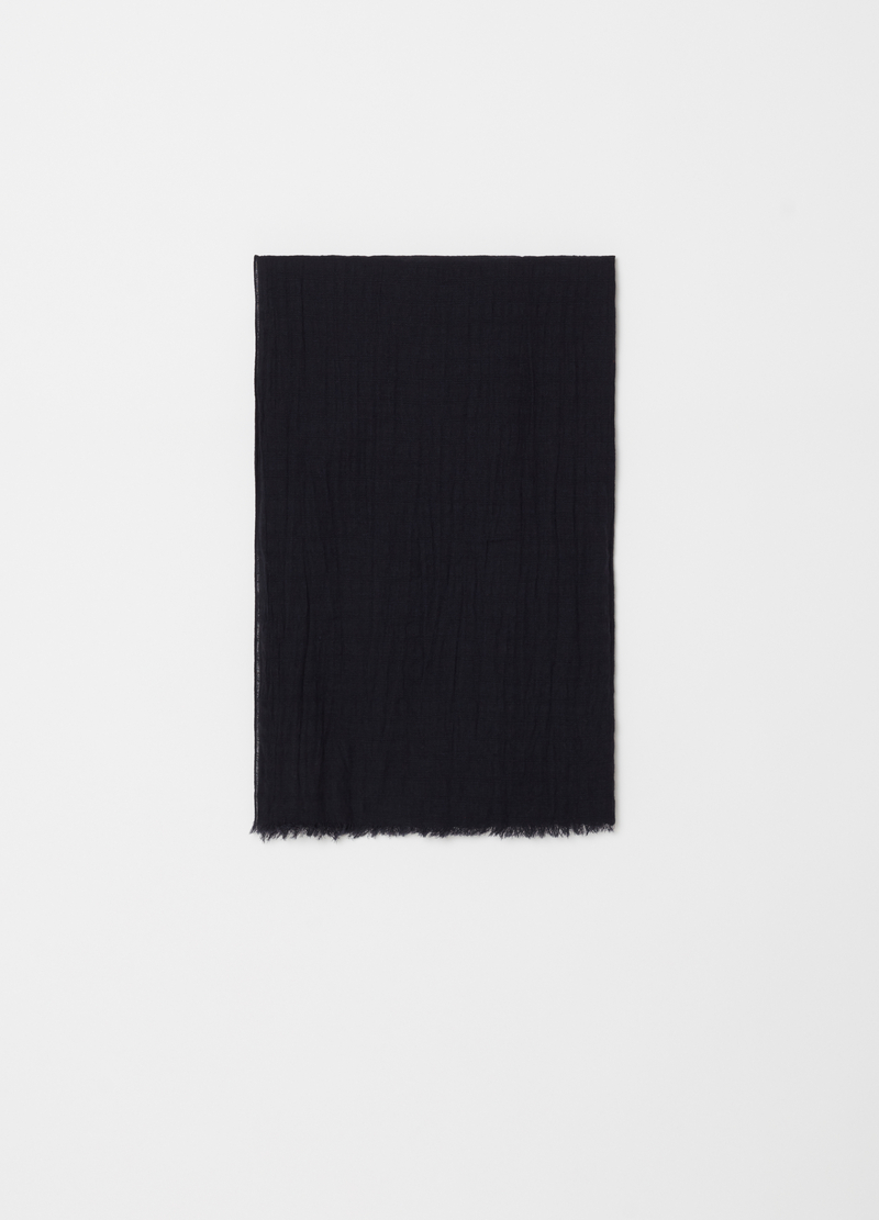 Solid colour scarf with fringed hem image number null