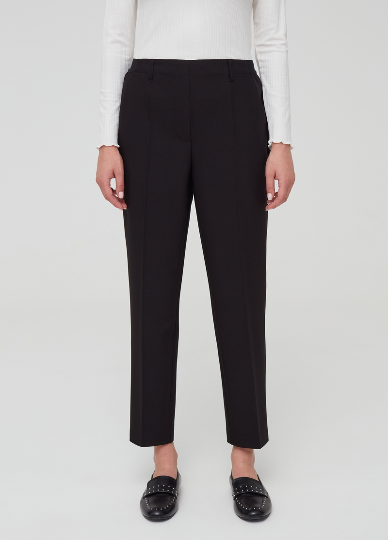 Pantaloni comfort fit in viscosa stretch image number null