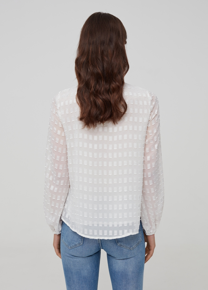Long-sleeved blouse with pattern image number null