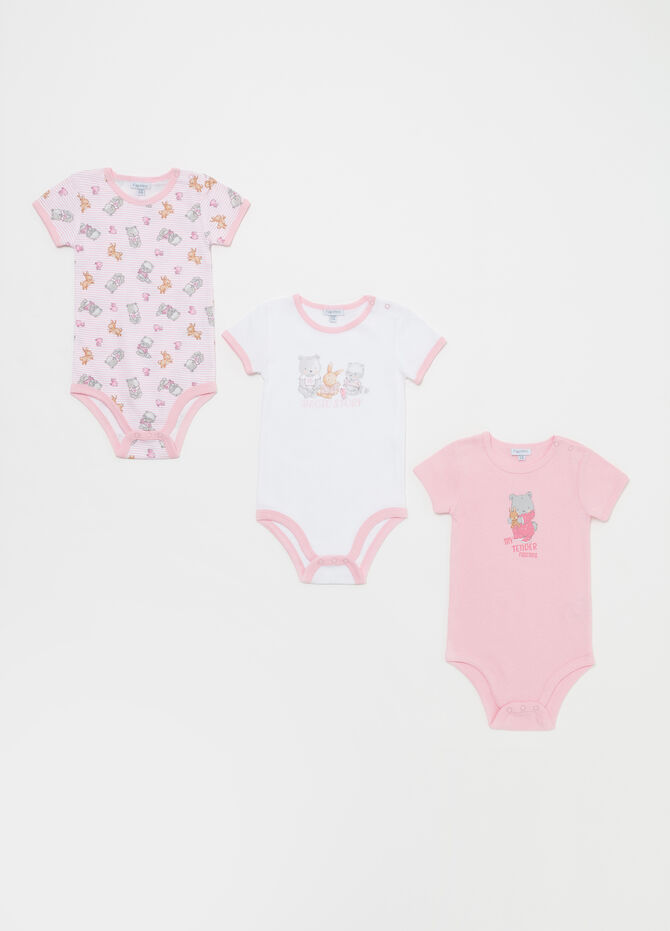 Set tre body puro cotone animaletti