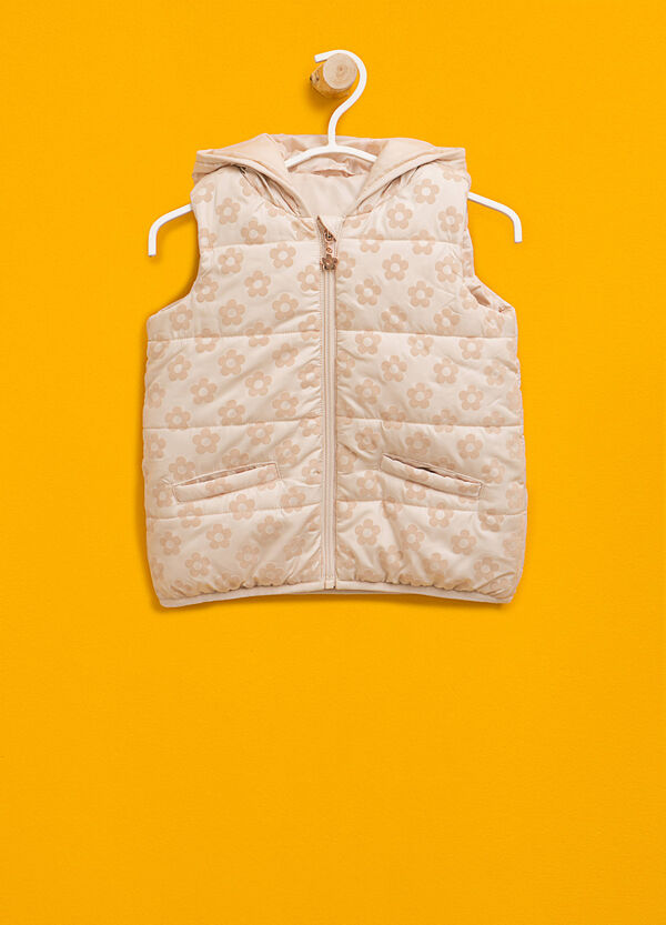 Padded gilet with floral pattern | OVS
