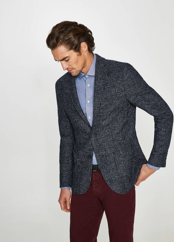 Rumford check jacket with two-button fastening | OVS