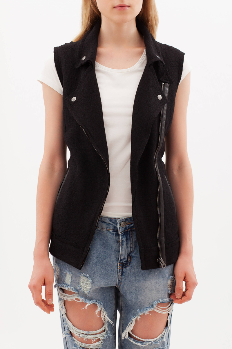 Gilet con zip image number null