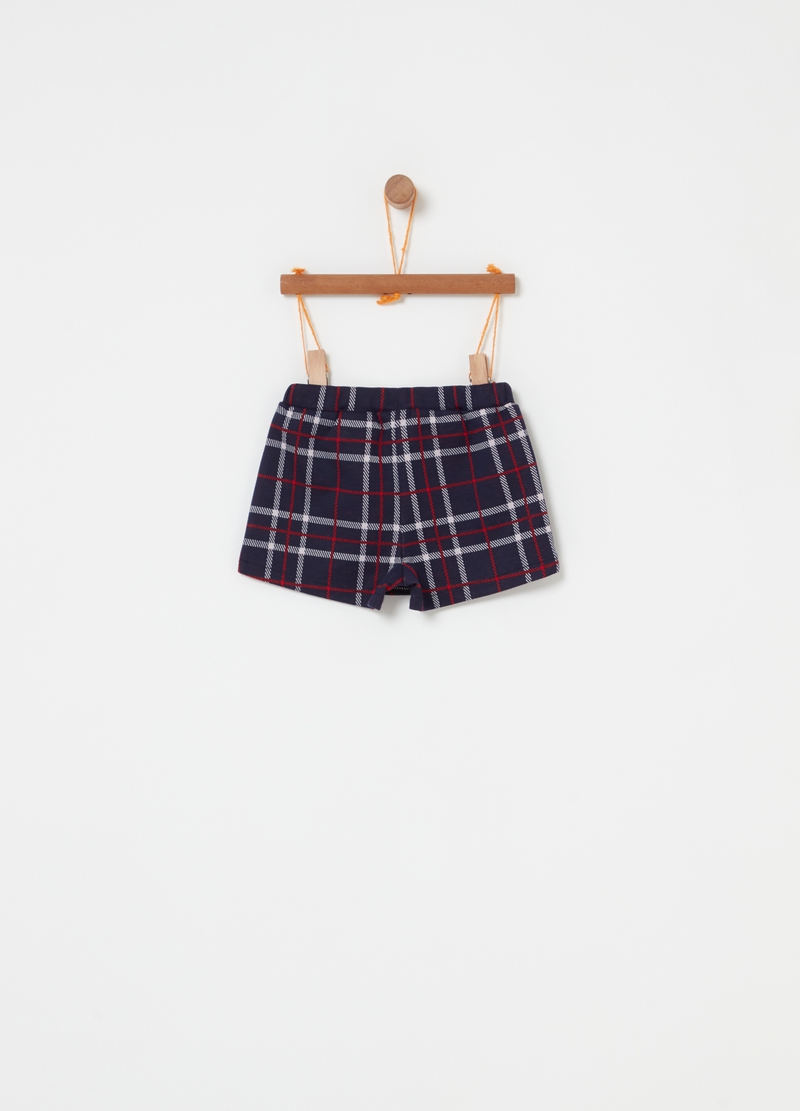 Wraparound skirt with check pattern image number null