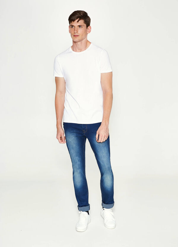 Jeans slim fit stretch delavati | OVS