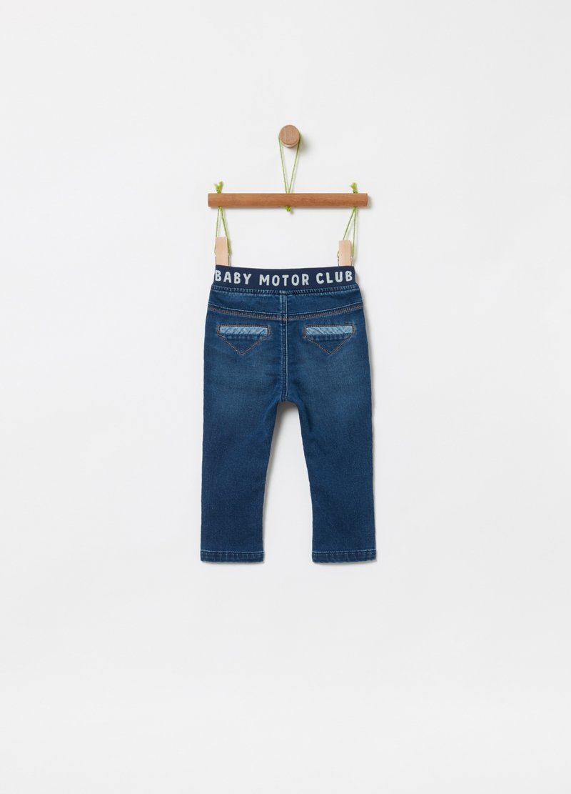 Regular-fit jeans in stretch organic cotton image number null