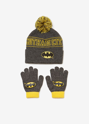 Set cappello e guanti Batman