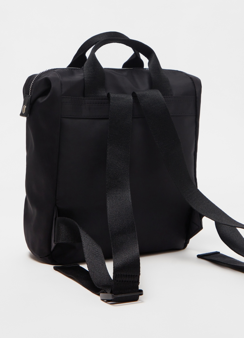 Nylon backpack with double handles image number null