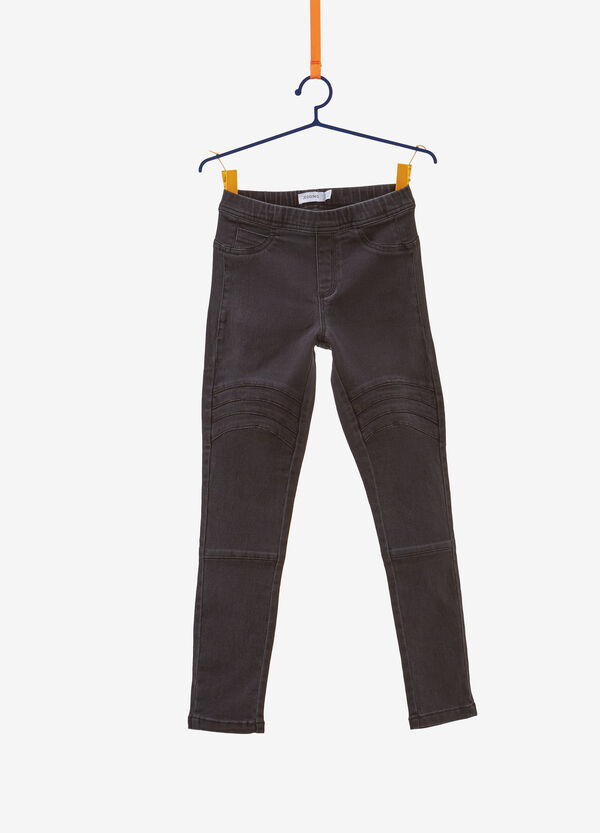 Jeggings jeans fit stretch impunturati