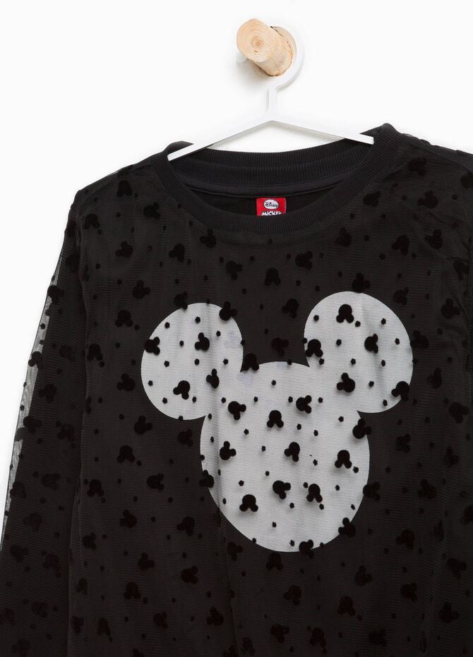 Stretch cotton sweatshirt with Minnie Mouse print