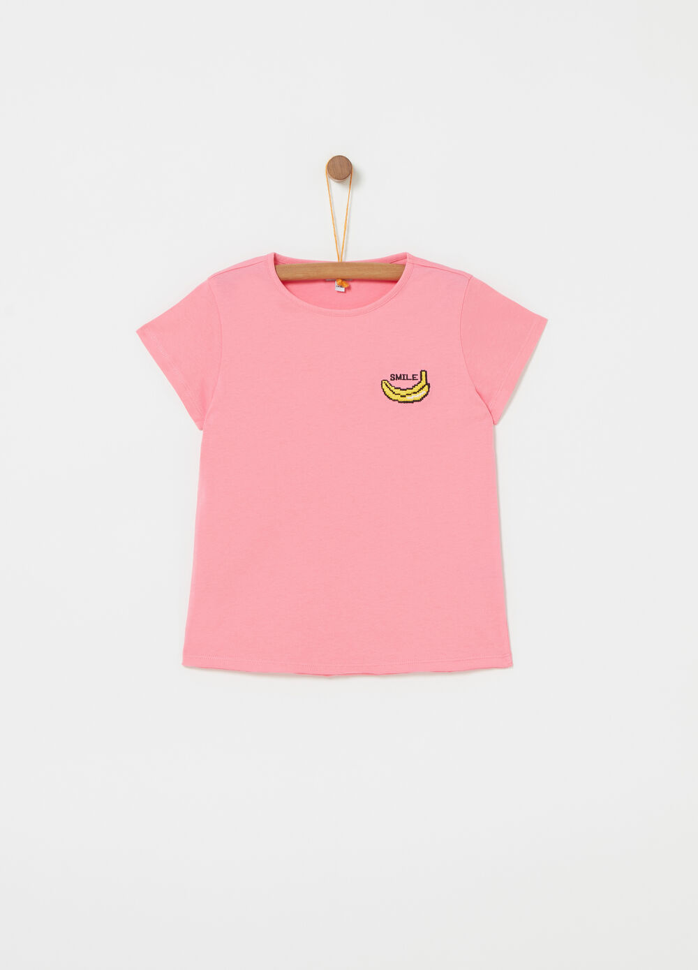 T-shirt in 100% cotton jersey with embroidery
