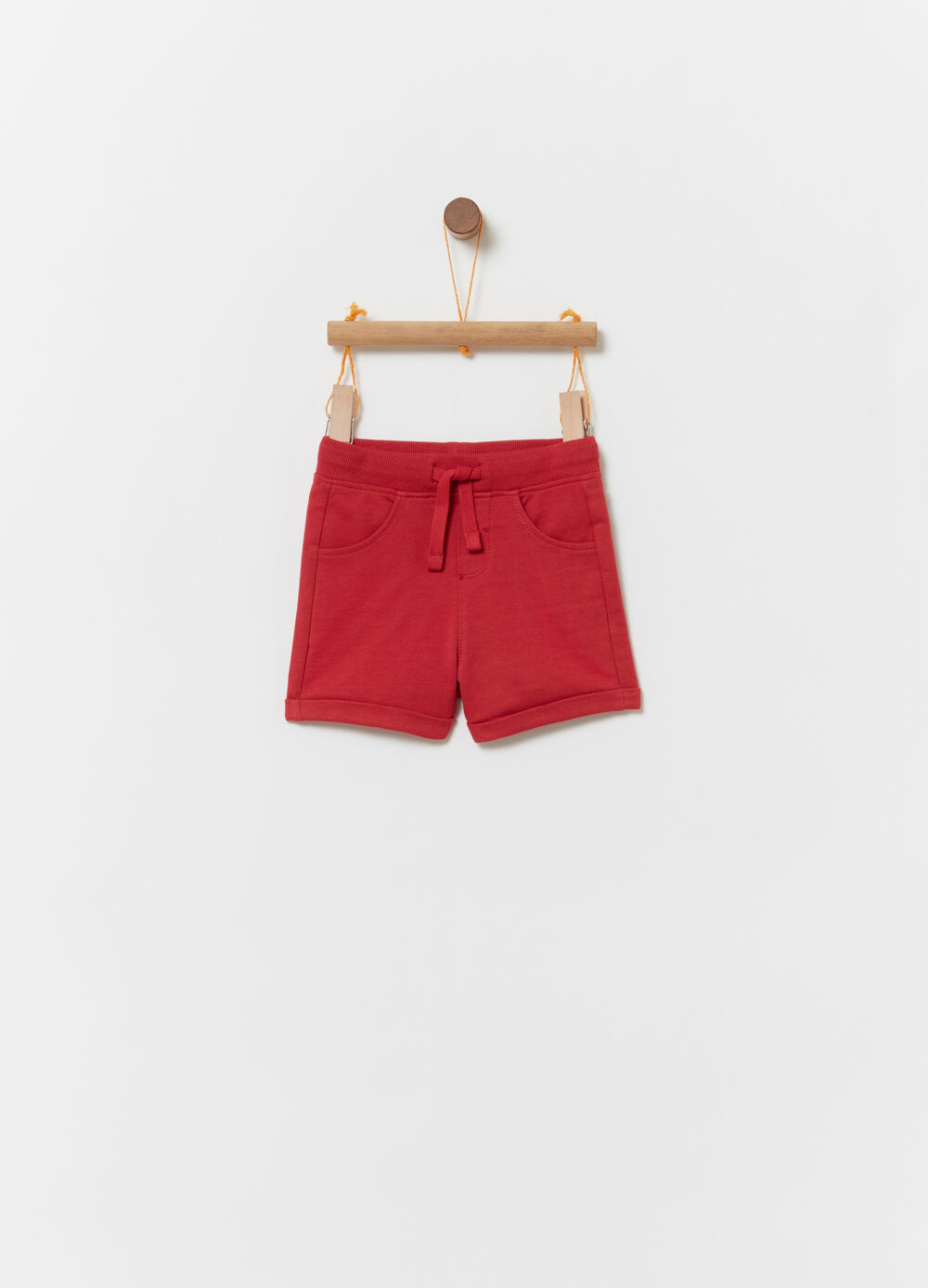 Shorts in French Terry with drawstring
