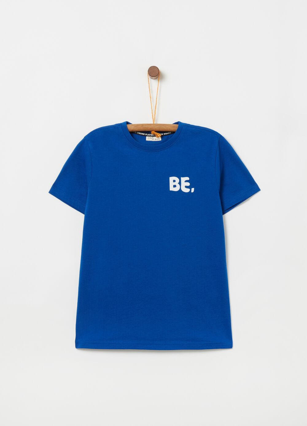 100% cotton T-shirt with print front and back