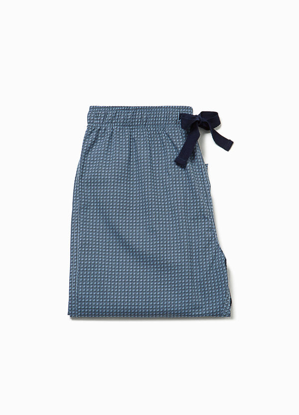 Pyjama trousers with micro check pattern