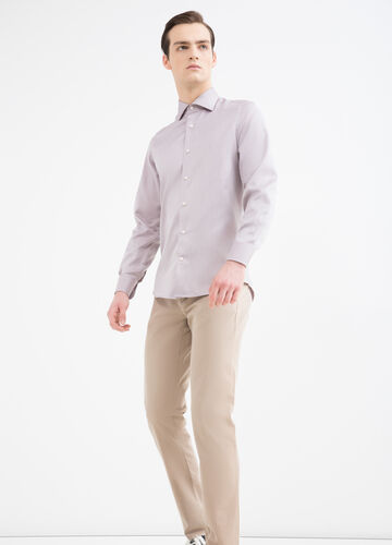 Camicia slim fit in puro cotone
