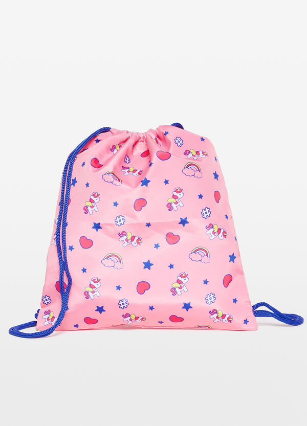 Heart and unicorn patterned bag