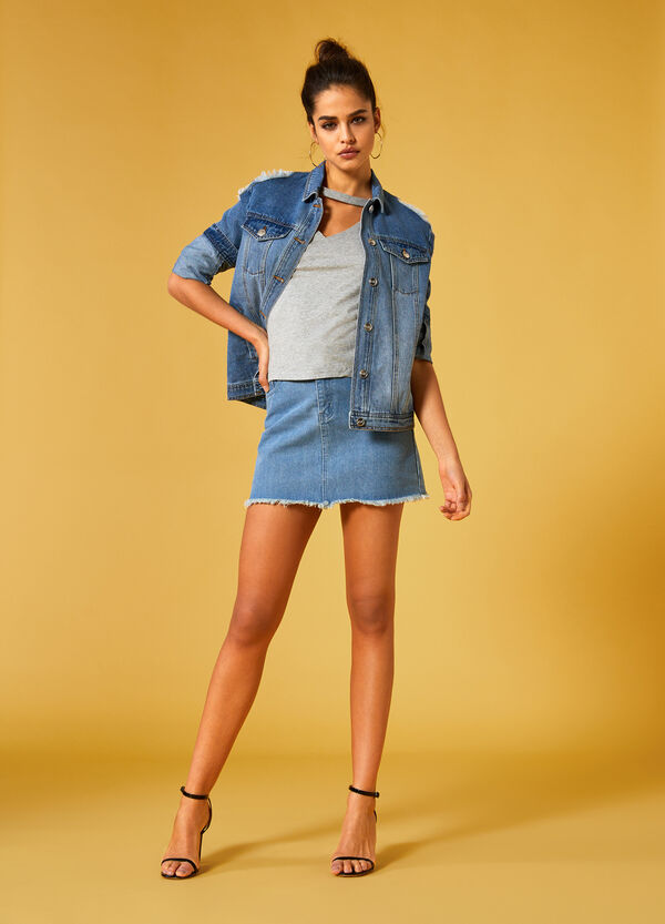 K+K for OVS denim mini-skirt