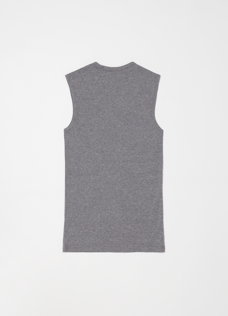 Mélange racerback top with V-neck and ribbing image number null