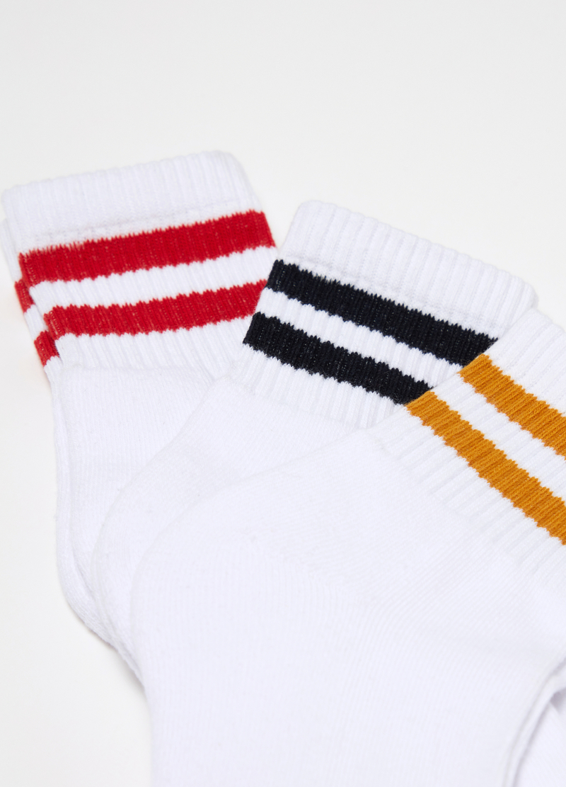 Three-pack ribbed and striped socks image number null