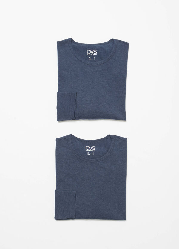 Set due t-shirt intime in cotone
