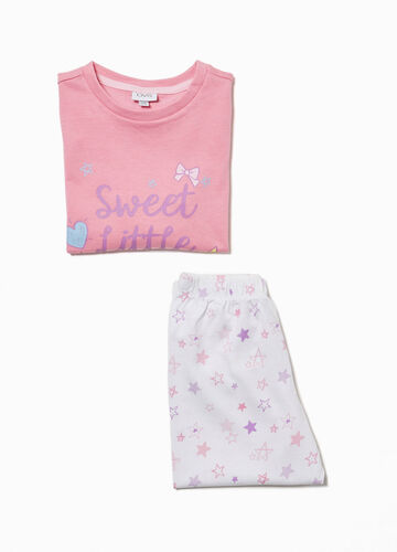 Star pattern pyjamas in 100% cotton