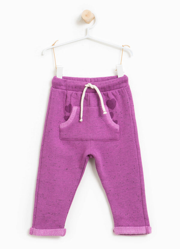 Trousers with drawstring and hearts print | OVS