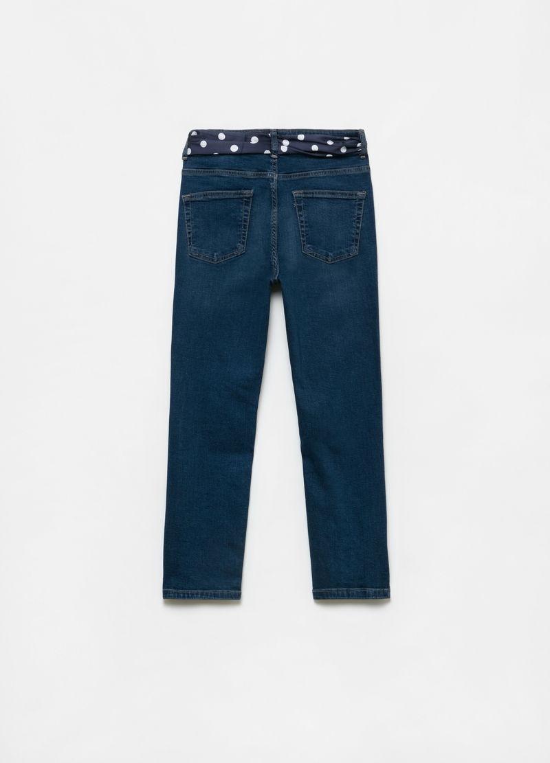 Jeans skinny fit crop con cintura image number null